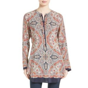 NWT Theory Maraseille Premont Tie Back Silk Blouse